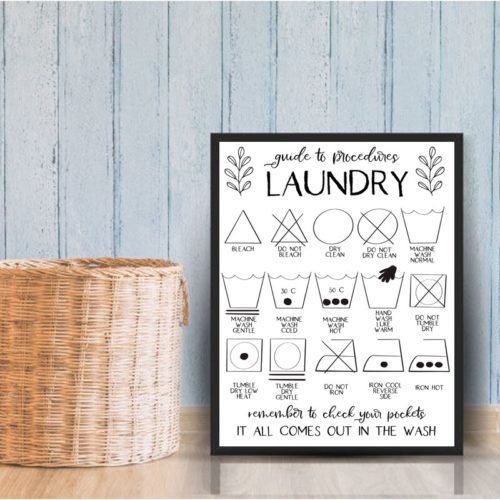 Canvas Laundry Guide Poster