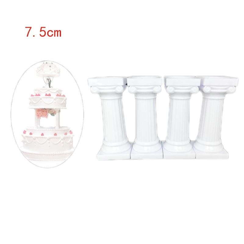 4Pcs/Set Multi-layered Cake Mold Roman Column Shape Cake Support Stand Decorate Pillars Wedding Cake Mould Pastry Baking Tools