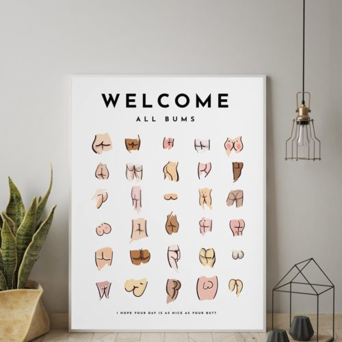 Canvas Toilet Butt Poster