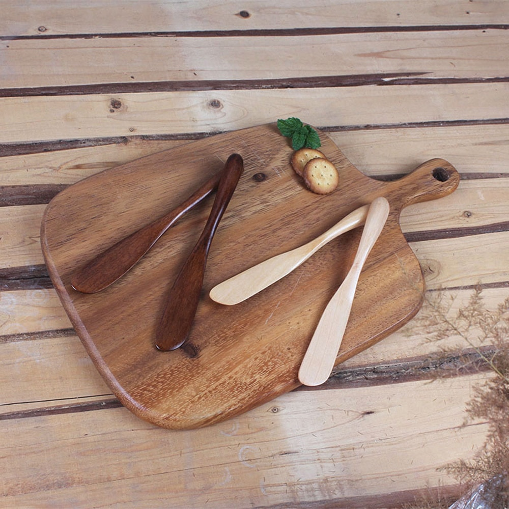 Thick Handle Wooden Butter Knife Marmalade Knife Japan Style Dinner Knives Tabeware With Thick Handle High Quality Knife Style