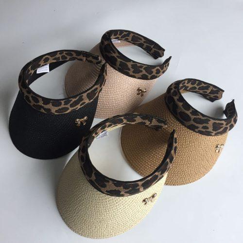 Ladies Sun Visor with Leopard Design