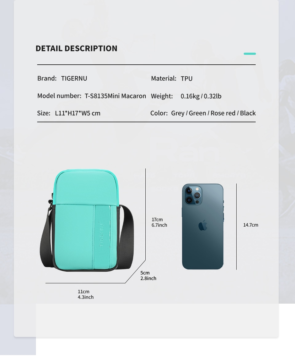 Mini Crossbody Phone Bag for Ladies and Men