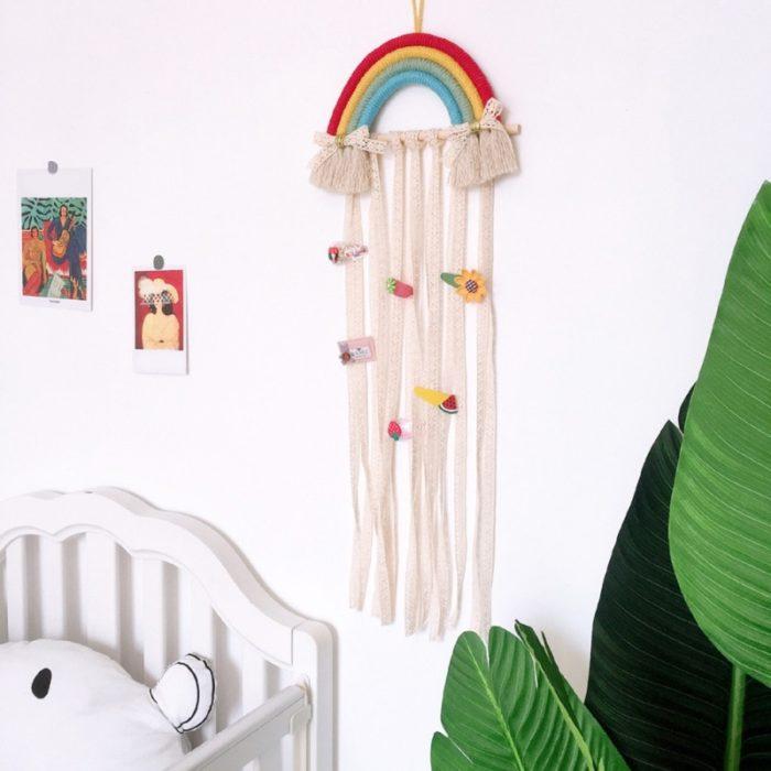 Rainbow Hanging Hair Clip Holder