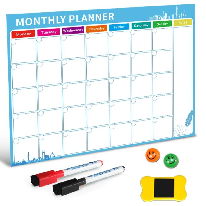 Magnetic Whiteboard Monthly Planner