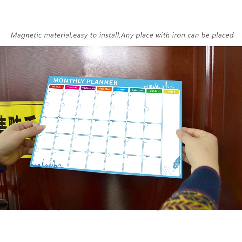 Magnetic Whiteboard Dry Erase Board Magnets Fridge Refrigerator To-Do List Monthly Daily Planner 2021 Organizer for Kitchen