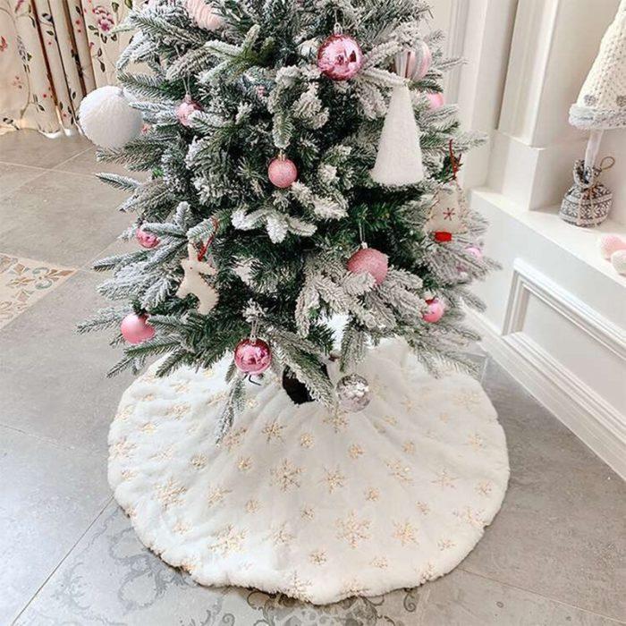 White Winter Christmas Tree Snow Skirt