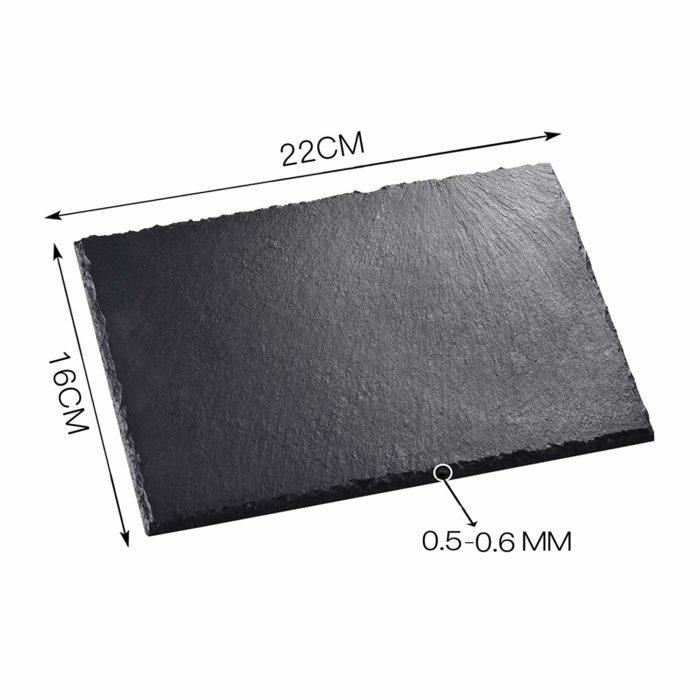 Rustic Black Slate Plate (6 pcs)