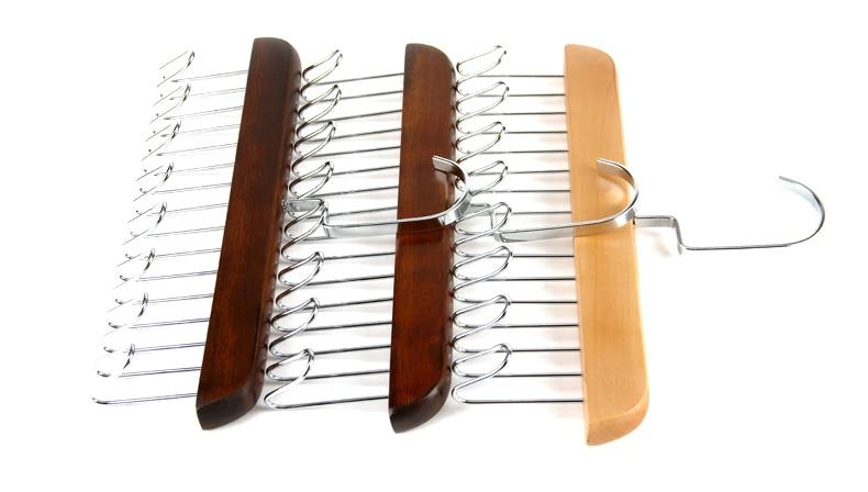 Multifunctional Wooden Belt Hanger Belts Rack Tie Hanger Scarf Holder Organizer Wardrobe Closet Storage Hanger 8 12 24 Hooks