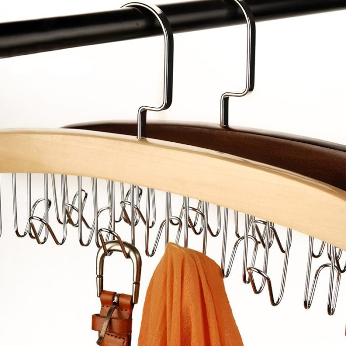 Wooden Belt and Tie Holder for Closet