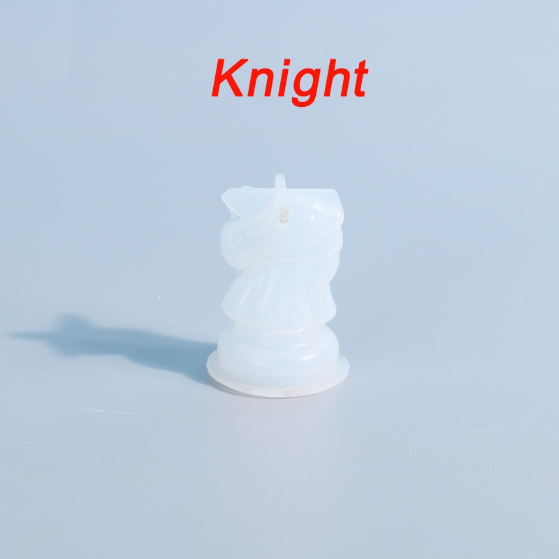 Chess Resin Molds 3D International Chess Piece Silicone Molds Resin Casting UV Epoxy Molds for DIY Crafts Chess Jewelry Making