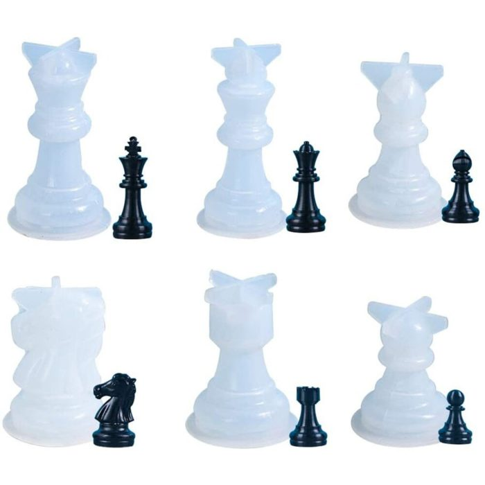 3D Silicone Chess Piece Mold
