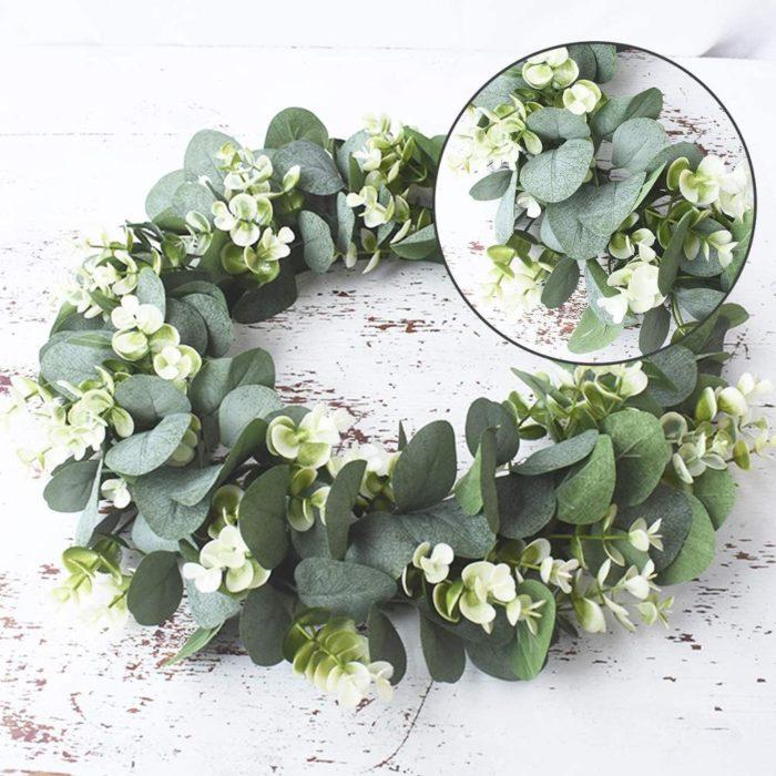 Eucalyptus Wreath Artificial Leaves Garland