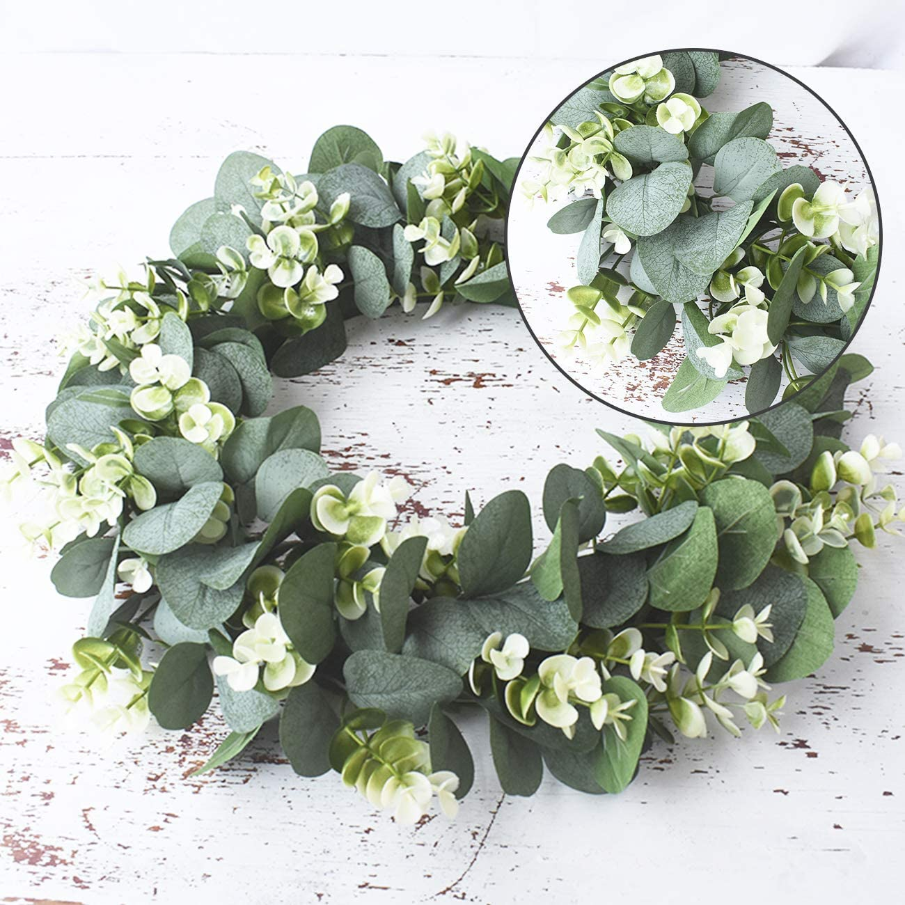 Eucalyptus wreath Artificial plants Background Wall window decorative Wedding party supplies Gifts Diy Christmas home decoration