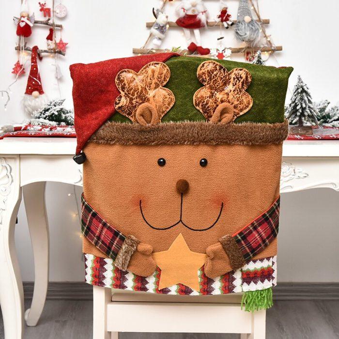 Flannel Santa Chair Covers