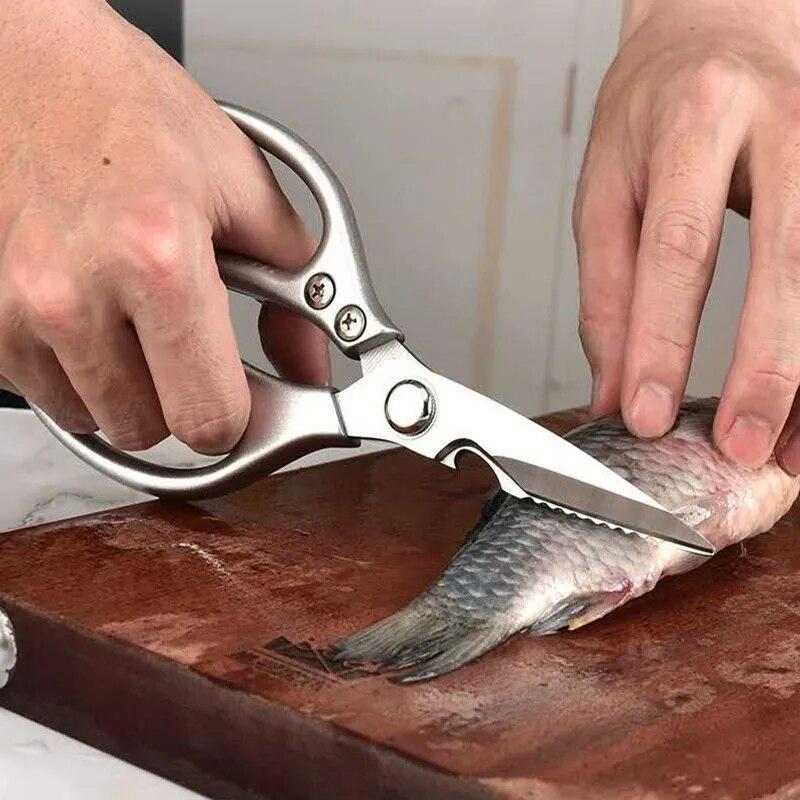 Multifunctional Kitchen Tools Kitchen Scissors Stainless Steal Meat Vegetable Cutting Scissors Chicken Bone Scissor Can Opener