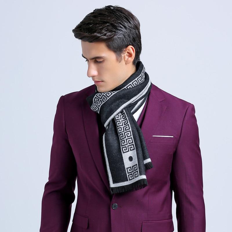 New letter luxury brand Business mens Scarf silk Cashmere scarf Shawl good quality winter Warm Scarves Men 180*30 cm