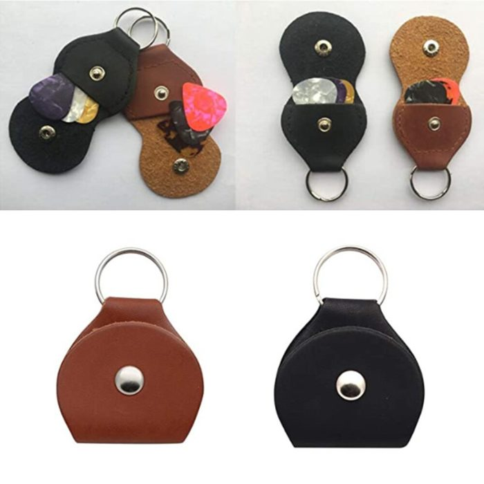 Guitar Pick Holder Keychain with 3 Picks