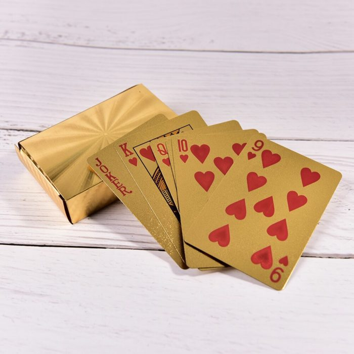 Gold Playing Cards Plastic Deck