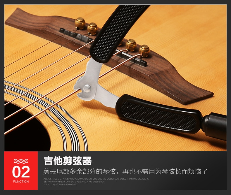 Guitar Tuning Tool 3 In 1 Stringed Instrument Accessories Guitars String Cutter Pin Puller Guitar Winder String Clamp Remover