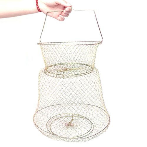 Collapsible Metal Wire Fishing Cage