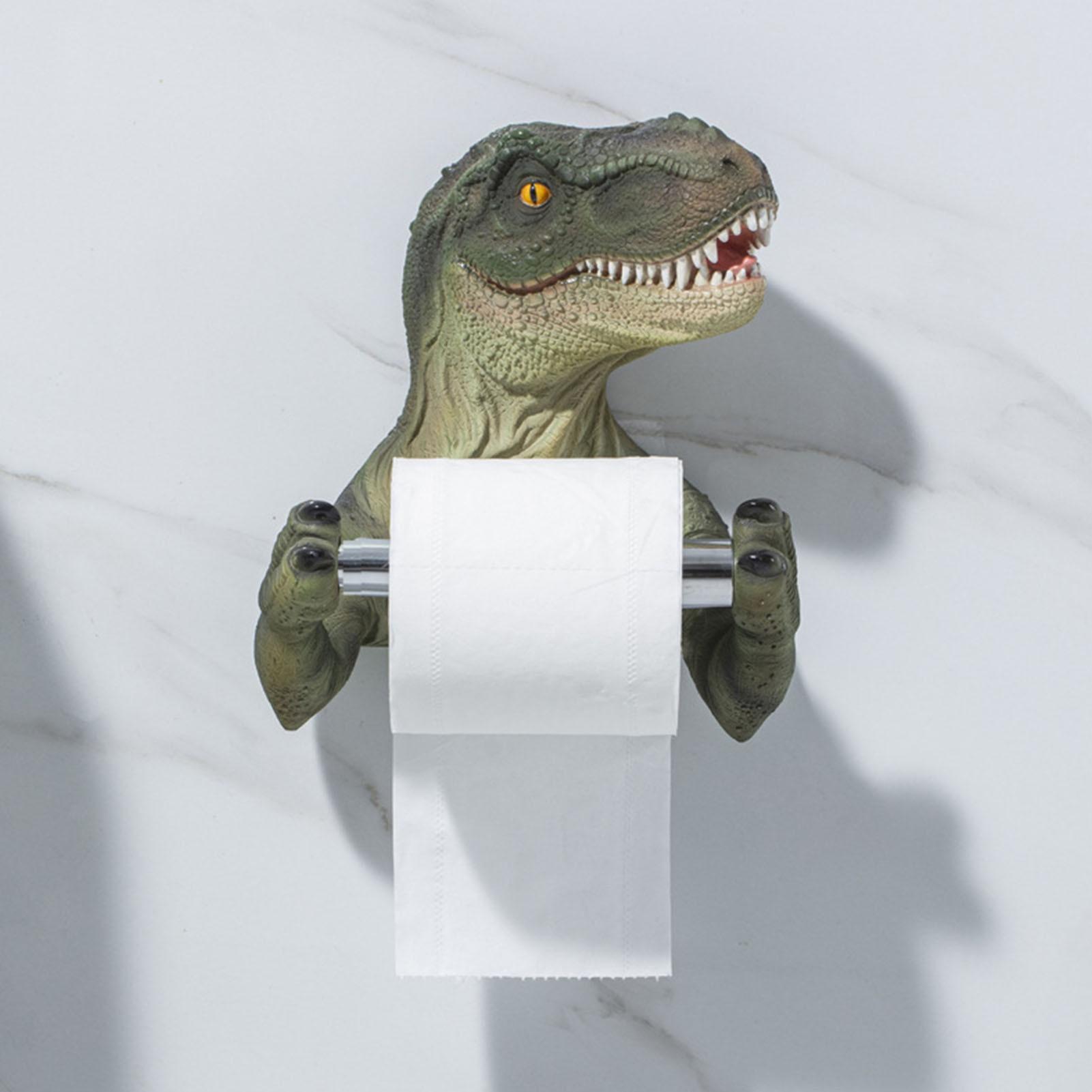 Creative Dinosaur Toilet Paper Paper Rack Bathroom Storage Rack Toilet Paper Towel Holders Rack Roll Barrel Punching Tissue Box