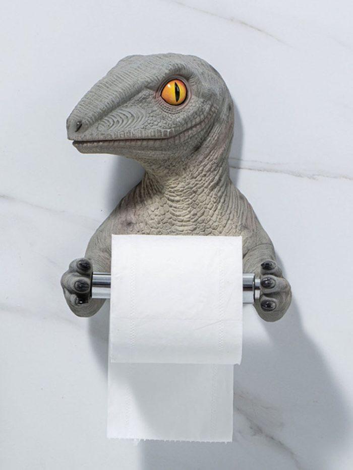 Wall-Mount Dinosaur Toilet Roll Holder