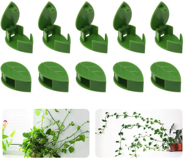 Green Leaf Plant Climbing Wall Clips