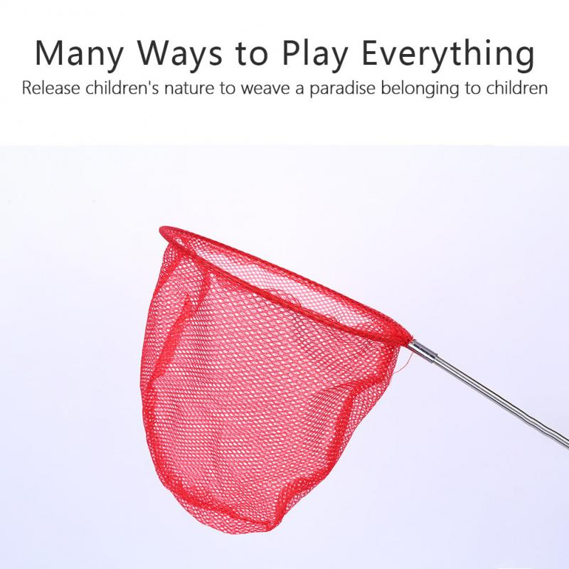 Children Retractable Summer Catch Toy Fishing Net Insect Butterfly Catcher Net Outdoor Water Play Tool Kids Boy Girl Adult