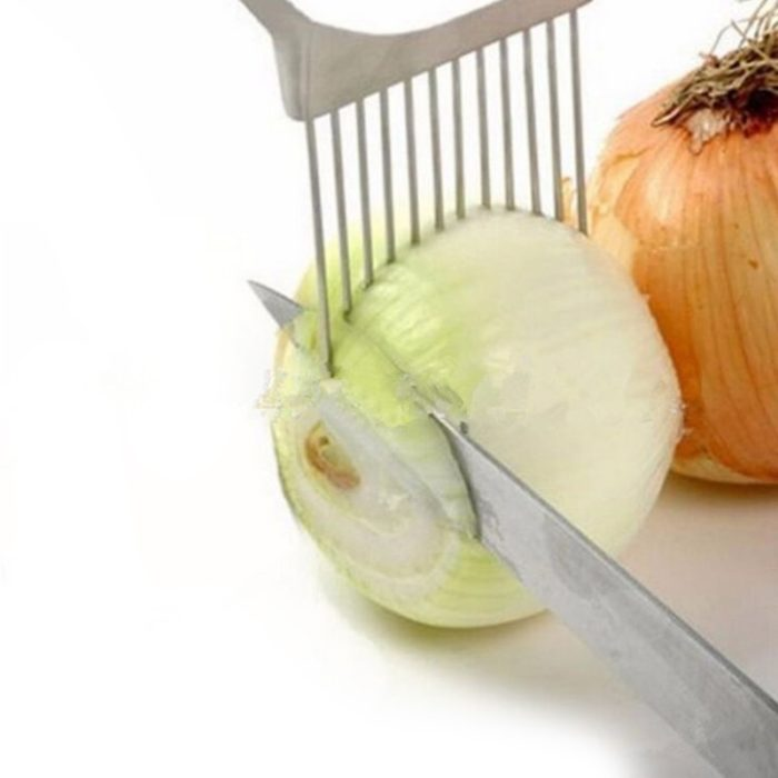 Steel Prongs Onion Holder for Slicing