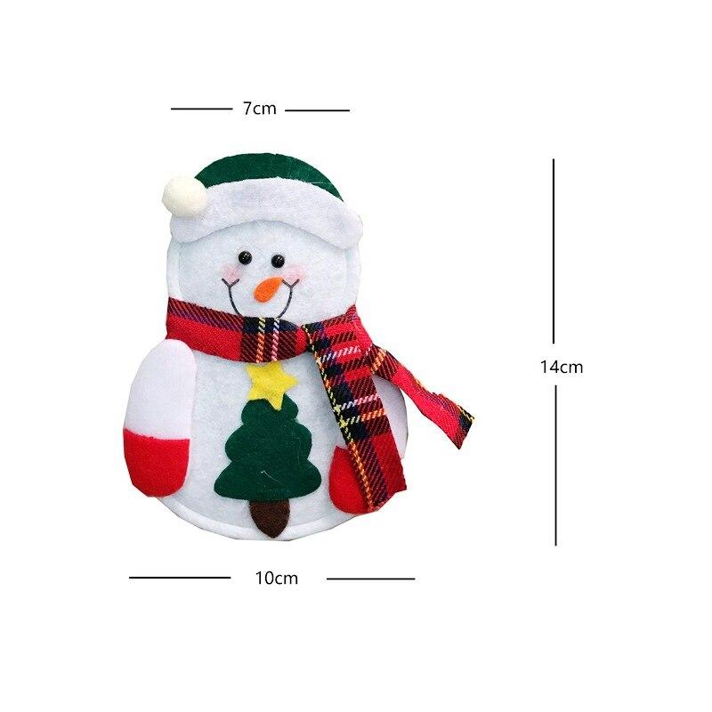 8Pcs Tableware Christmas Decorations Santa Claus Xmas Cutlery fork knife Holder Bag Kitchen Navidad decoraciones para el hogar