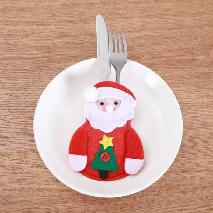 Felt Christmas Utensil Holder (8 pcs)