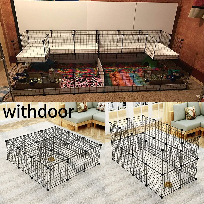 Foldable Pet Playpen Iron Fence Puppy Kennel House Exercise Training Puppy Kitten Space Dogs Supplies rabbits guinea pig Cage