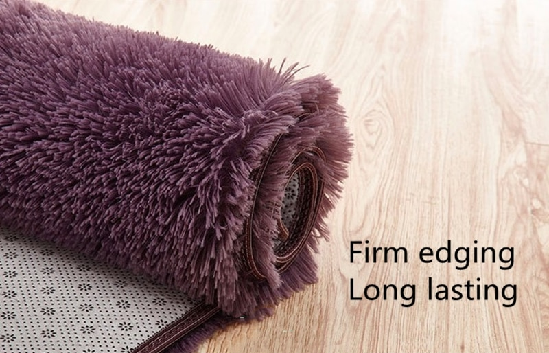 Newest Thickened Washed Silk Mercerizing Plush Soft Carpets For Living Room Bedroom Anti-slip Floor Mats Water Absorption Rug