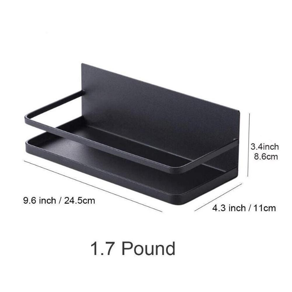Stainless Steel Magnetic Shelf Strong And Durable For Refrigerator Spice Storage Kitchen Organizer Kitchen Seasoning Rack
