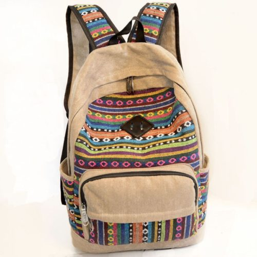 School Canvas Cloth Backpack
