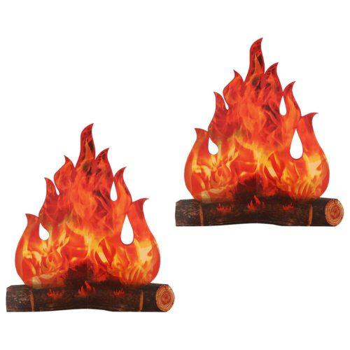 3D Paper Pop-Up Fake Campfire (2pcs)
