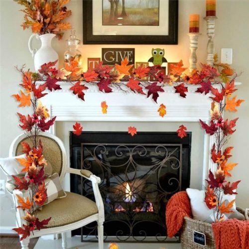 Artificial Autumn Leaves Garland