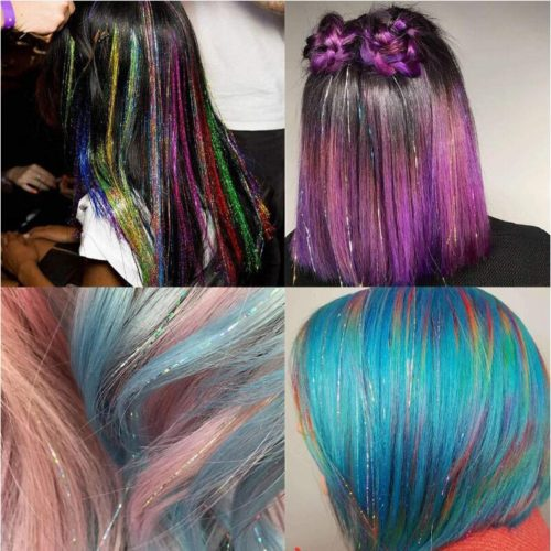 Hair Tinsels Glitter Extensions