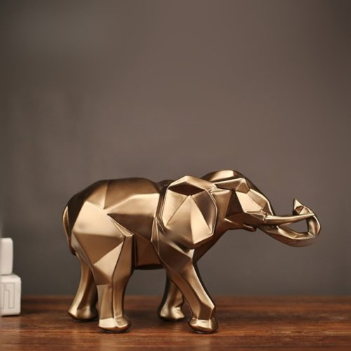 Resin Elephant Decorative Figurine