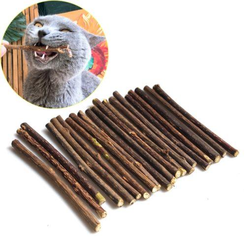 Natural Wood Cat Dental Sticks