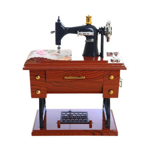 Vintage Style Music Box Sewing Machine