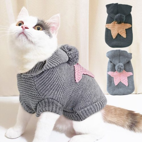 Knitted Cat Sweater Warmer