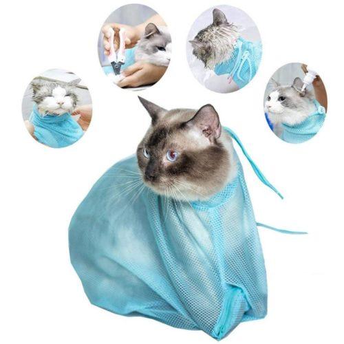 Grooming Mesh Cat Shower Bag
