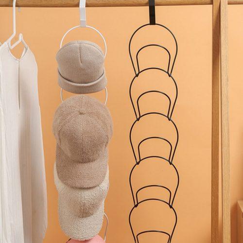 Iron Five-Loop Hanging Hat Rack