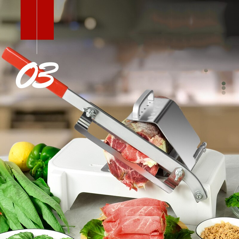 Kitchen Tools Meat Slicing Machine Alloy+Stainless Steel Household Manual Thickness Adjustable Meat and Vegetables Slicer Gadget