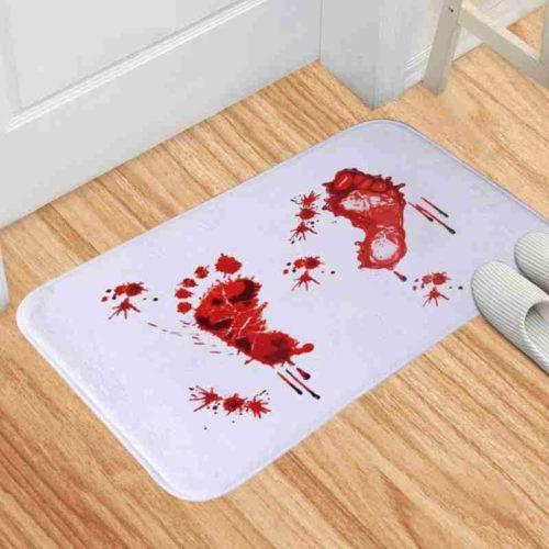 Non-Slip Bloody Footprint Bath Mat