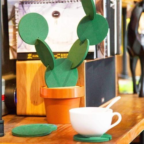 Anti-Skid EVA Cactus Coaster (6pcs)