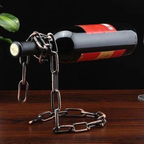 Iron Chain Wine Bottle Holder
