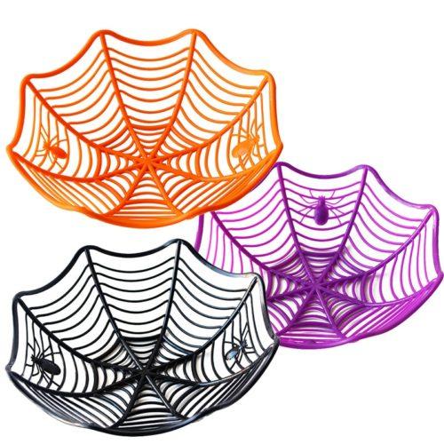 Spider Basket Halloween Decoration Bowl