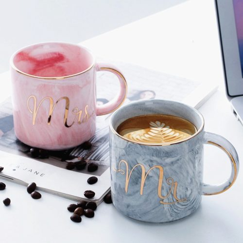 Ceramic Couple Cups Set